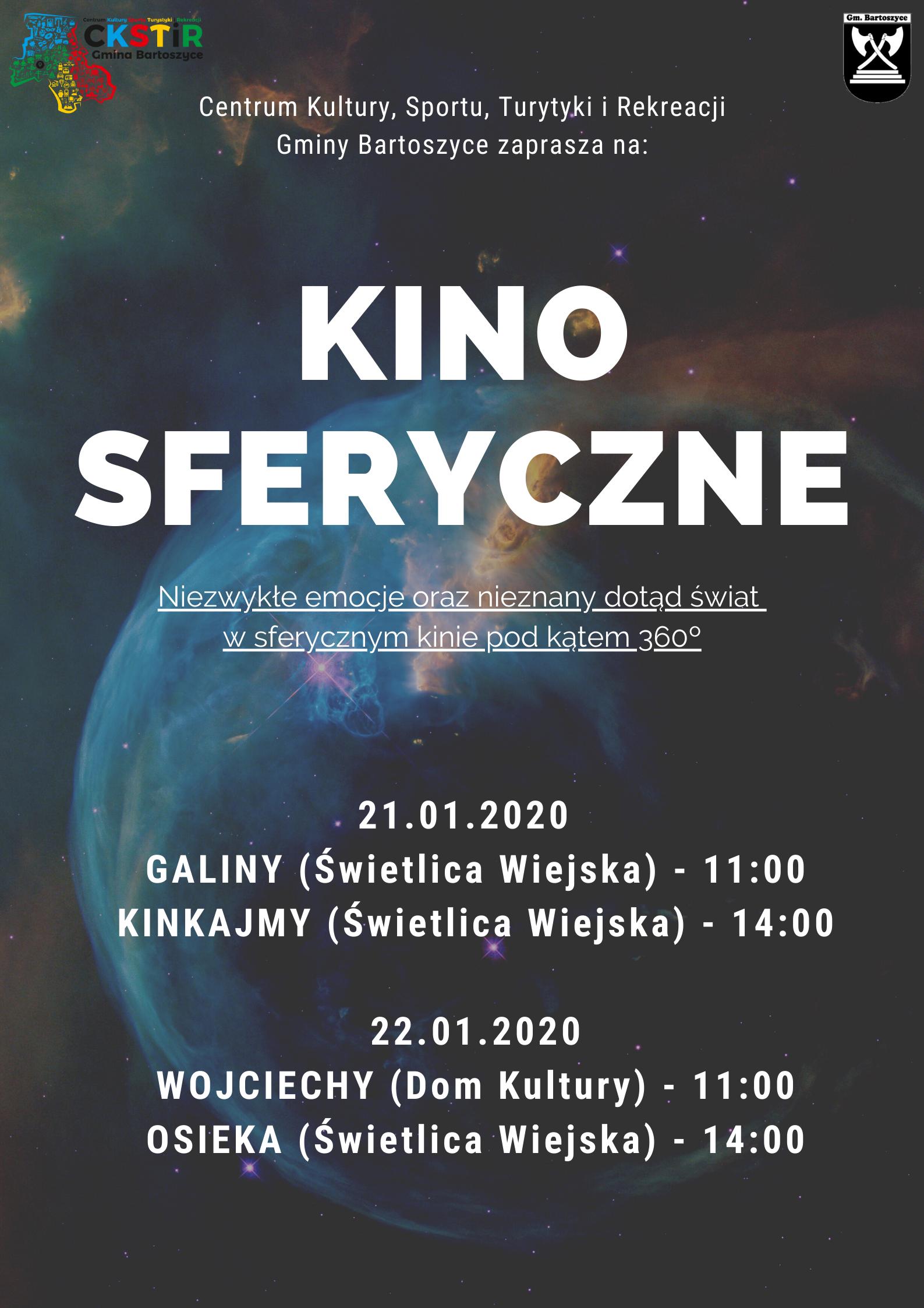Ilustracja do informacji: Kino sferyczne w gminie Bartoszyce